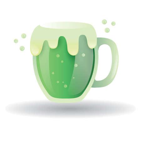 green beer: green beer mug