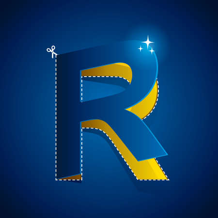 cutout: cutout of alphabet r