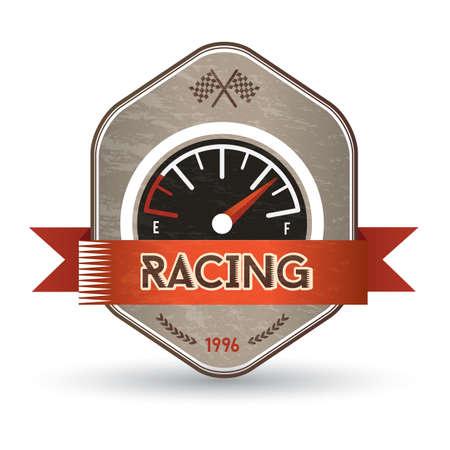 fuel gauge: fuel gauge label Illustration
