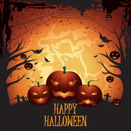 happy halloween Stock Illustratie