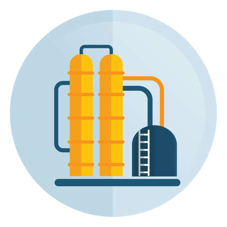 oil refinery: oil refinery Illustration