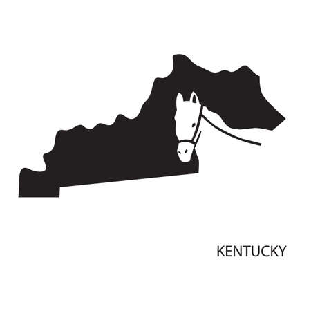 state boundary: kentucky Illustration