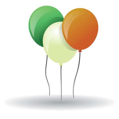 ireland flag: ireland flag balloons