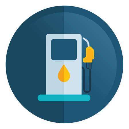 filling: fuel filling station Illustration