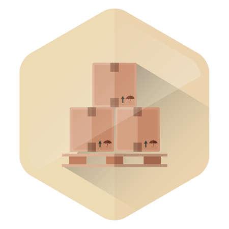 cardboard: cardboard boxes Illustration