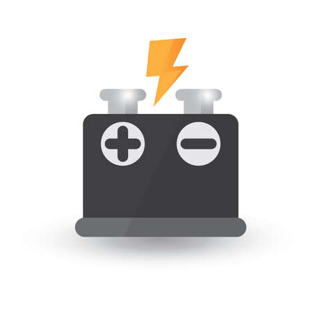 negativity: battery Illustration