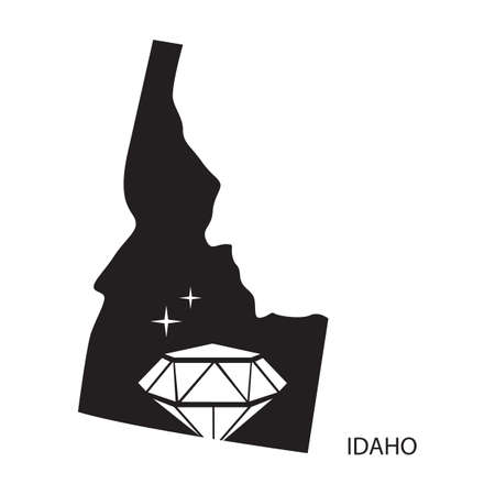 state boundary: idaho Illustration