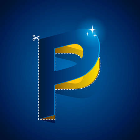outs: cutout of alphabet p
