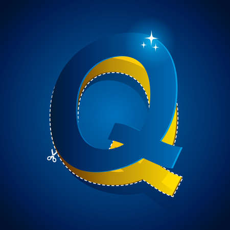 cutout: cutout of alphabet q