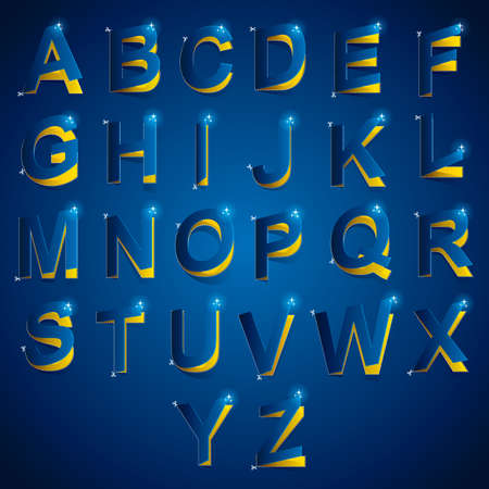 s c u b a: cutout of alphabets