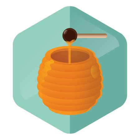 dipper: honey pot with dipper