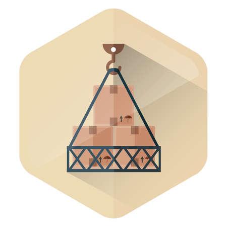 hook: goods in hook Illustration