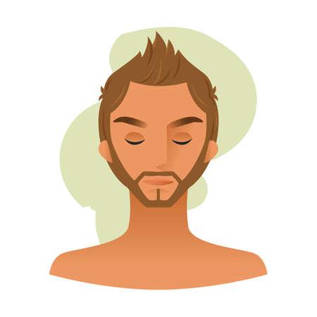 sideburn: man cartoon
