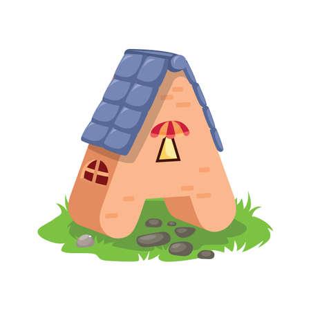 casa en la forma de un alfabeto