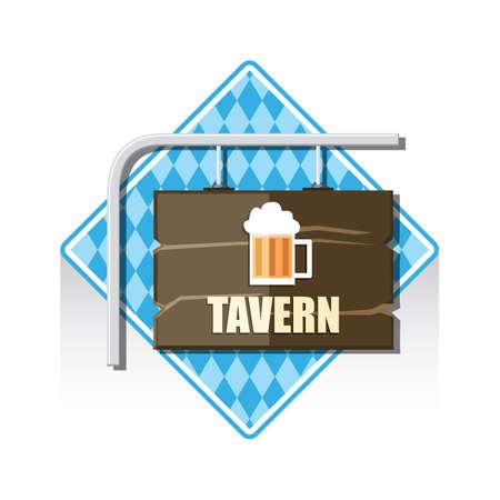 tavern: tavern sign Illustration