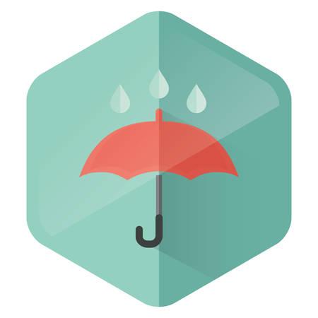 drops of water: umbrella and water drops Illustration