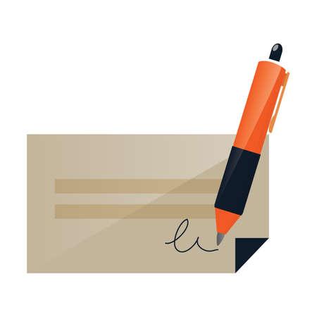 cheque and signature