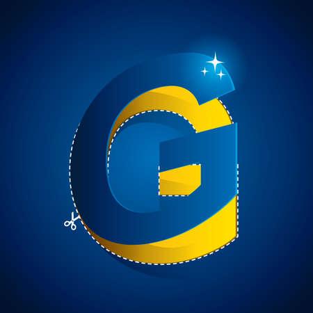 cutout of alphabet g