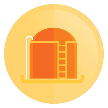 storage: petroleum storage tank Illustration