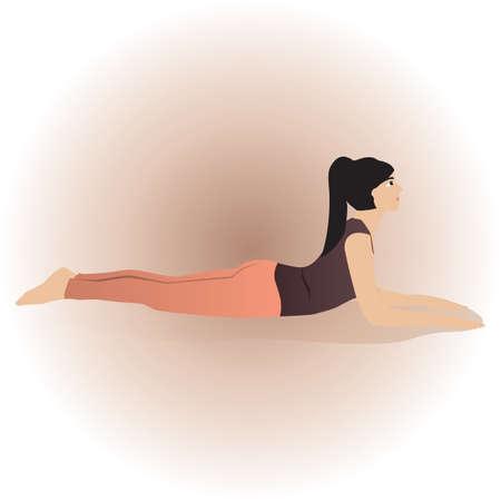 bhujangasana: cobra pose Illustration