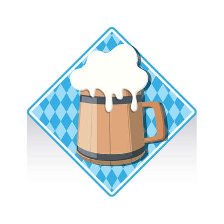 tankard: wooden beer mug