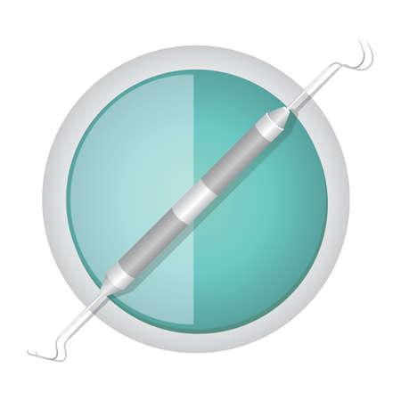 scaler: dental carver Illustration