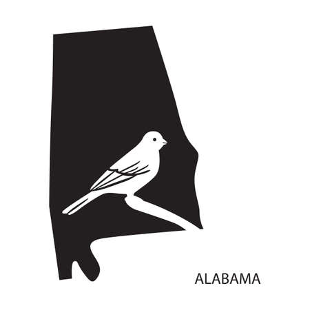state boundary: alabama Illustration