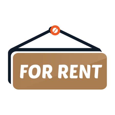 rent: for rent Illustration