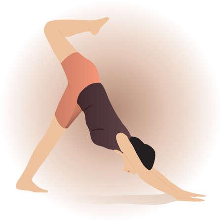 legged: one legged downward facing dog pose