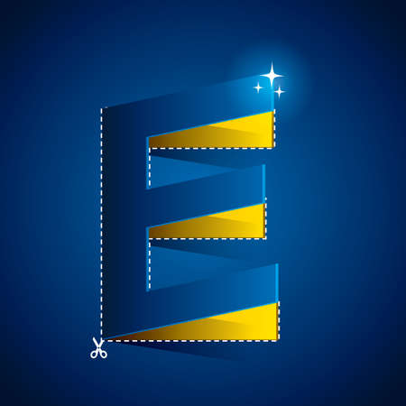 cutout: cutout of alphabet e