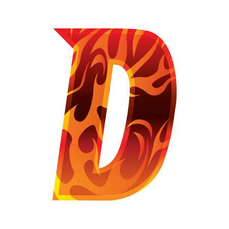 d: alphabet d Illustration