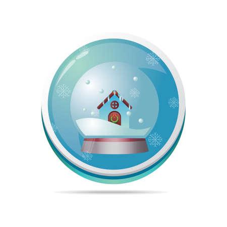 snowglobe: snowglobe in a button
