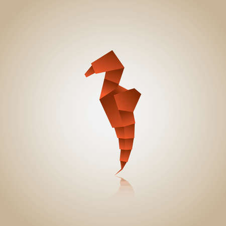 Origami Seahorse Royalty Free Cliparts Vectors And Stock