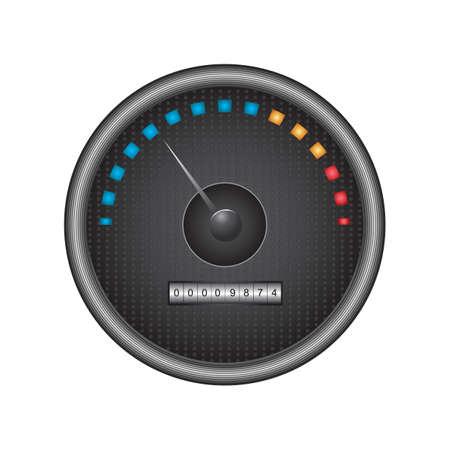 mileage: speedometer