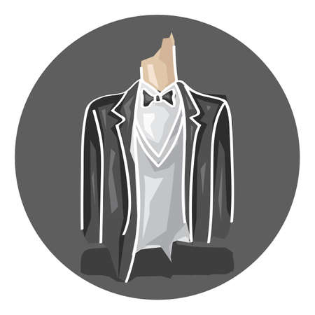 formal clothing: groom suit Illustration