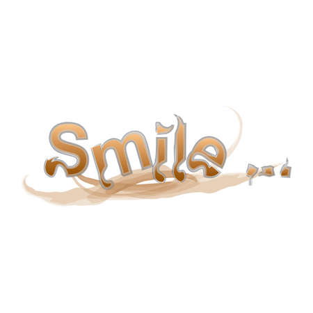 adjective: smile text