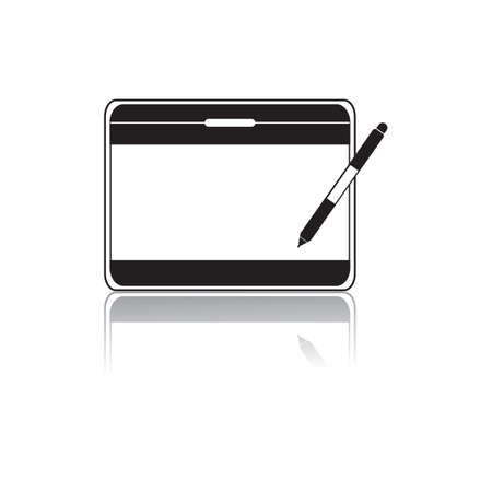 stylus: tablet with stylus Illustration