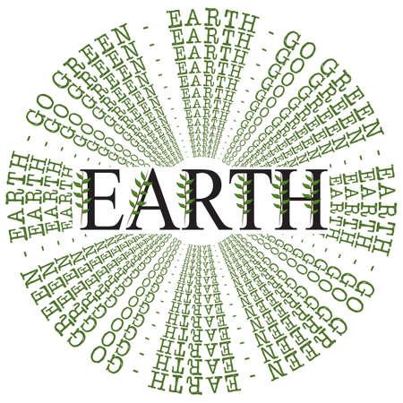 go green concept: earth with go green concept