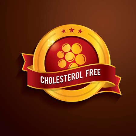 cholesterol free: cholesterol free label Illustration