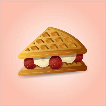wafer: wafer dessert Illustration