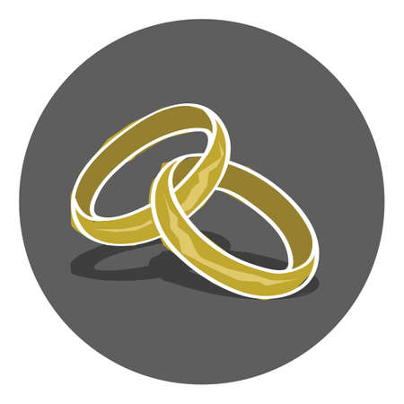 wedding: wedding rings Illustration