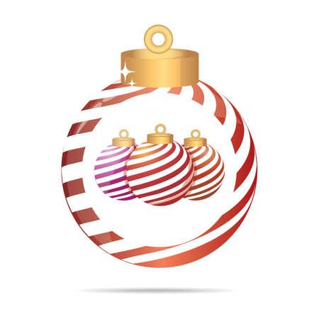kerstballen in een kerstbal Stock Illustratie