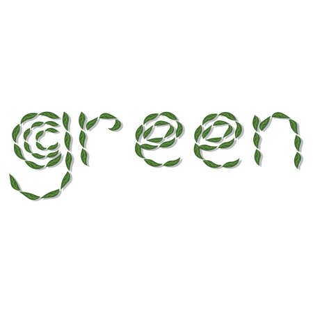 go green concept: go green concept Illustration
