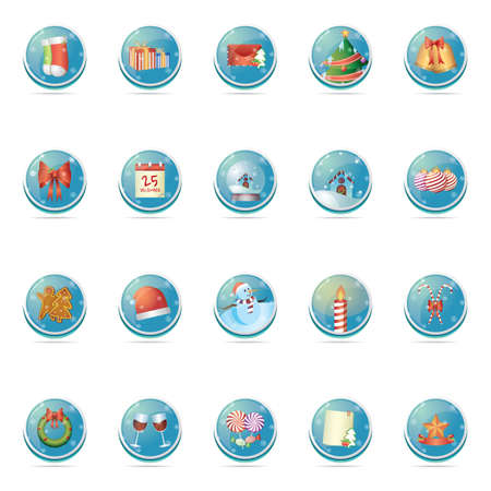 toffee: set of christmas button