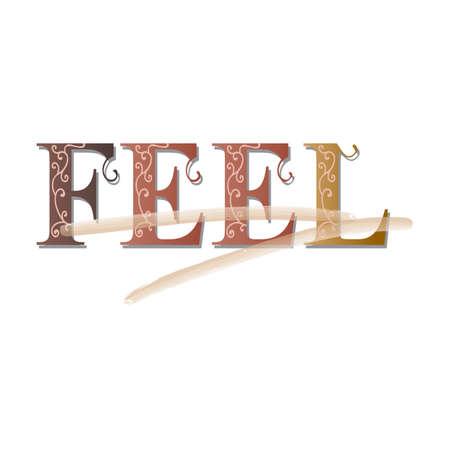 adjective: feel text
