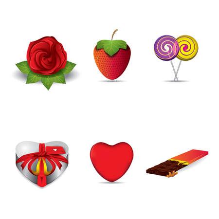 lovely: set of lovely icons