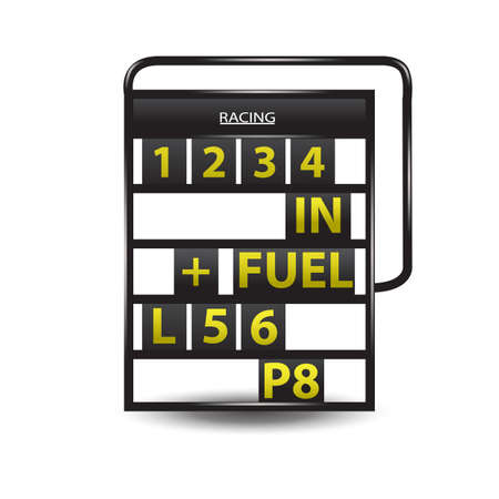 pit: pit board Illustration