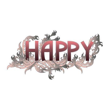 happy: happy text