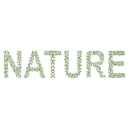 forming: plant forming the word nature
