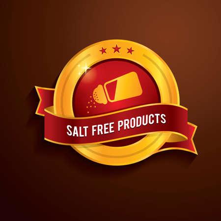 salt free: salt free products label